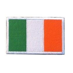 Remendos de bordado 3d armband loops e gancho a bandeira irlandesa remendos emblemas de remendo de pano da braçadeira