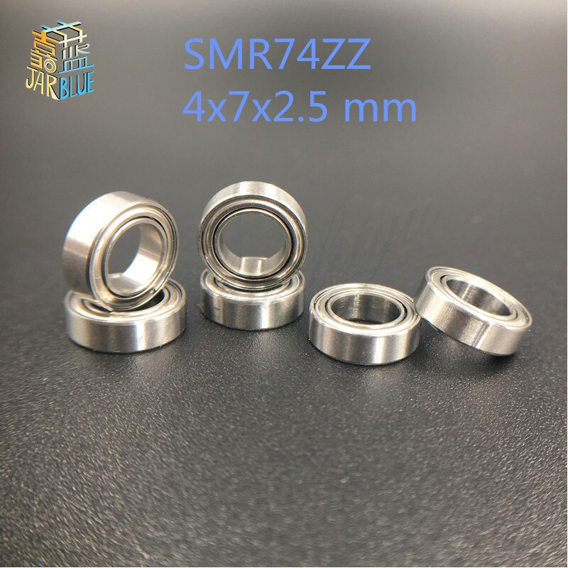 Envío Gratis MR74ZZ teniendo ABEC-1 (10 uds) 4*7*2,5mm miniatura MR74 ZZ MR74Z rodamientos L-740ZZ MR74-ZZ