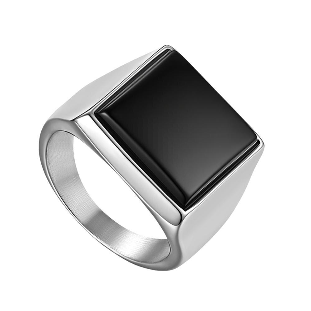 Boniskiss anel masculino design único redondo jóias para o homem simples atmosférica polido aço inoxidável anel de festa anillos