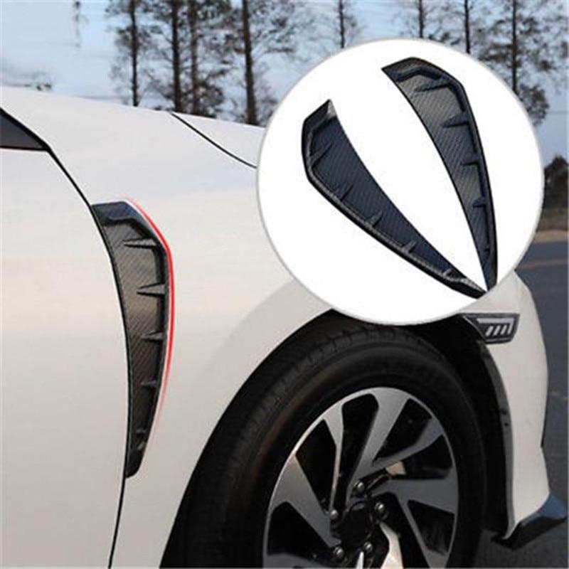Indicador lateral flujo de aire guardabarros lateral ala de aire ventilación cubierta del cuerpo pegatina embellecedor para Honda Civic 2016 a 2018 accesorios de coche estilo de coche