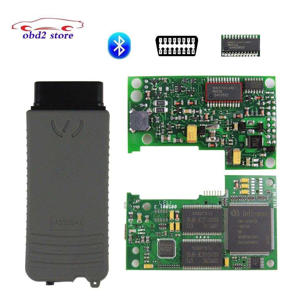VAS5054A ODIS V5.1.6 Vas5054 OKI Chip completo Bluetooth OBDII herramienta de diagnóstico VAS 5054 OBD2 Auto escáner protocolo UDS V5.16