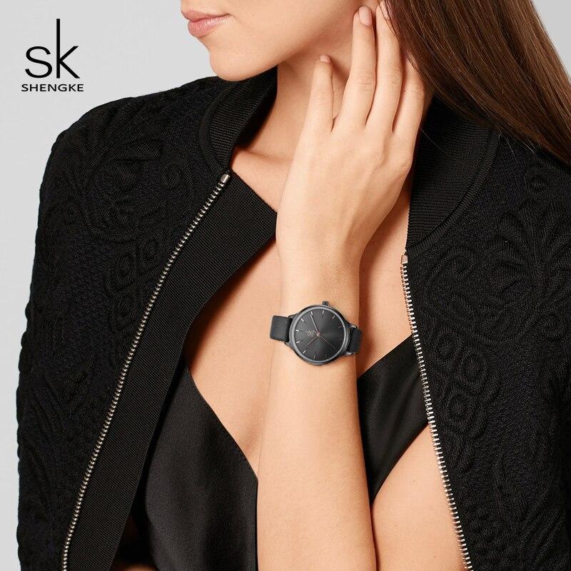 Shengke Fashion Watches Women Leather Wrist Watch Reloj Mujer 2019 SK Luxury Ladies Quartz Watch Women's Clock Montre Femme enlarge