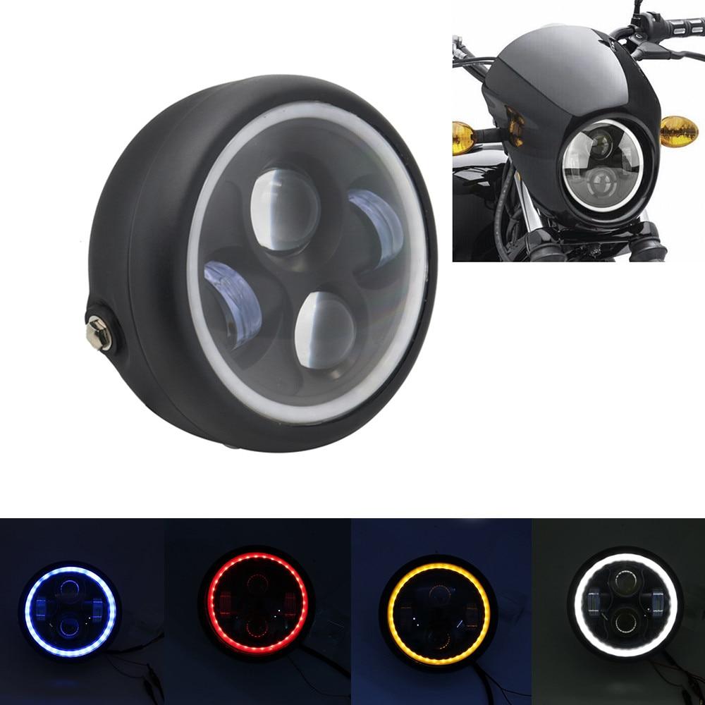 "6,5 ""5,75 pulgadas faro LED para motocicleta motor bombilla 6000K 30W super brillante faro delantero faro del motor para Yamaha Harley Honda"