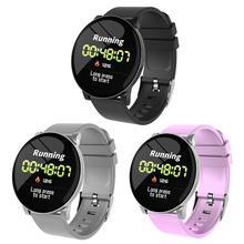 W8 1.3 pouces écran couleur Bluetooth montre intelligente 170mAH Apple santé hebdomadaire rapport Sport temps affichage marche taux de calories santé