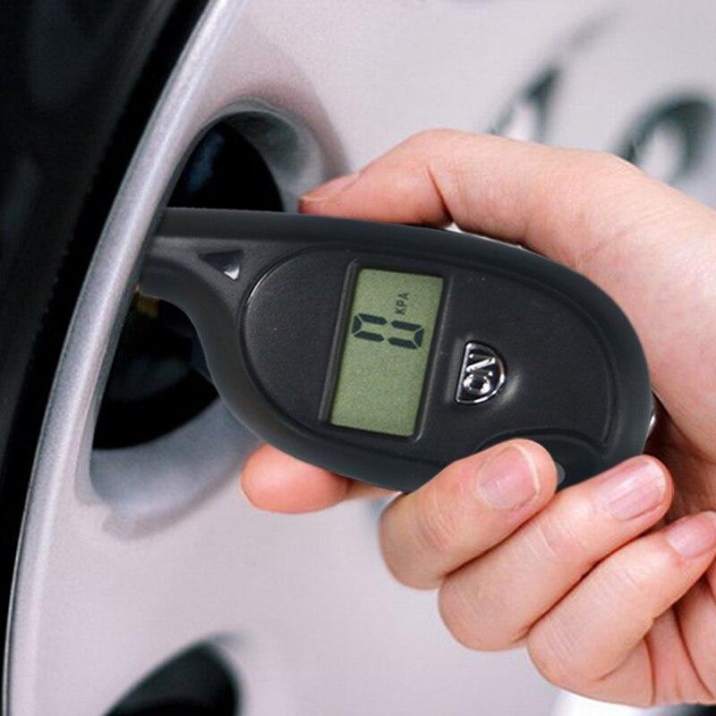 FTBTOC-Mini neumático LCD a presión, portátil, con indicador de presión de aire para el coche Coche
