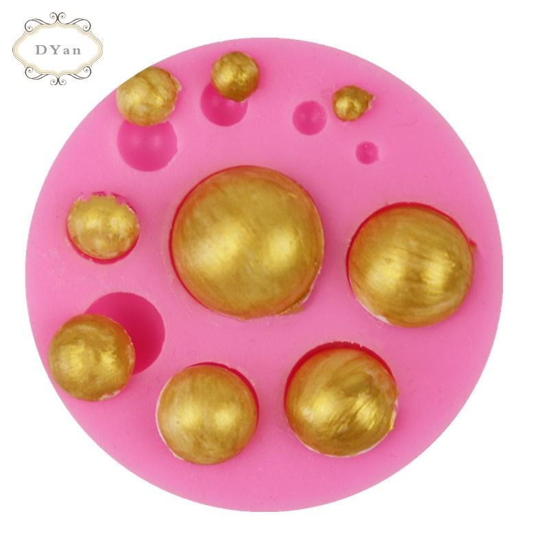 Kremówka silikonowe formy pół perła kulkowa oko narzędzie do dekoracji ciast pieczenia ciasta czekoladowego formy epoksydowa lekka glina A042