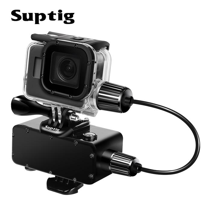 Suptig 5200mAh Wasserdicht Power Bank Ladegerät Wasserdicht fall für GoPro Hero 8/7/5/4 /3 Action Kamera SJ8 H9R Lade Box