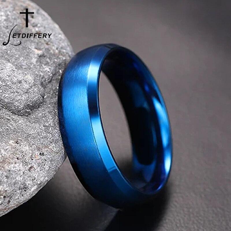 Мужское кольцо из нержавеющей стали, 8 мм