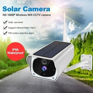 Security CCTV IP Camera Outdoor Solar PoweredLow Power Rechargeable Battery Night Vision WiFi 1080P Camera IP66 Waterproof