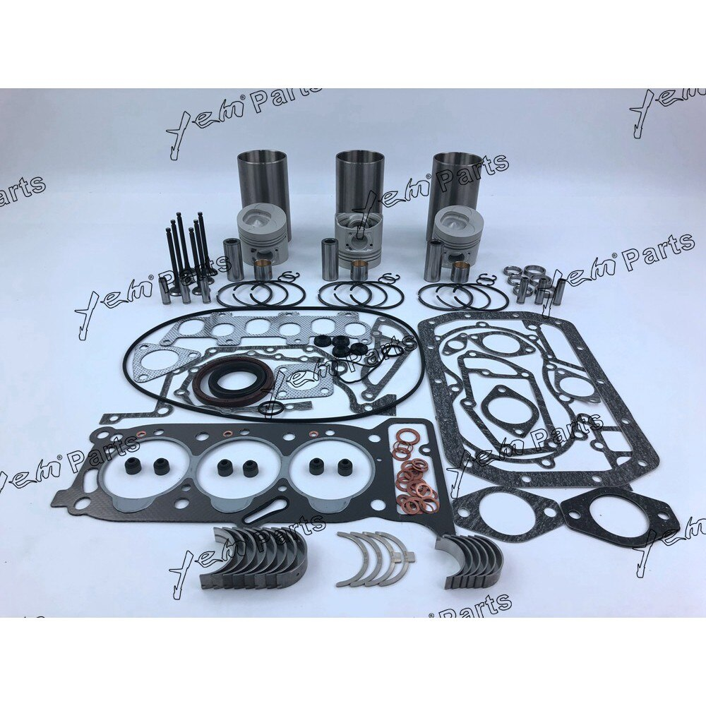 Kit de reparación para motor Isuzu 3KR2 pistón + anillo de pistón + revestimiento de cilindro + juego de juntas + rodamientos + conjunto de válvulas
