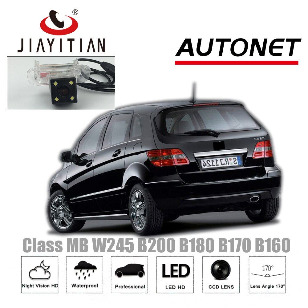 Cámara de visión trasera JiaYiTian para Mercedes Benz Clase B MB W245 B200 B180 B170 160, copia de seguridad para estacionamiento, visión nocturna, cámara para matrícula