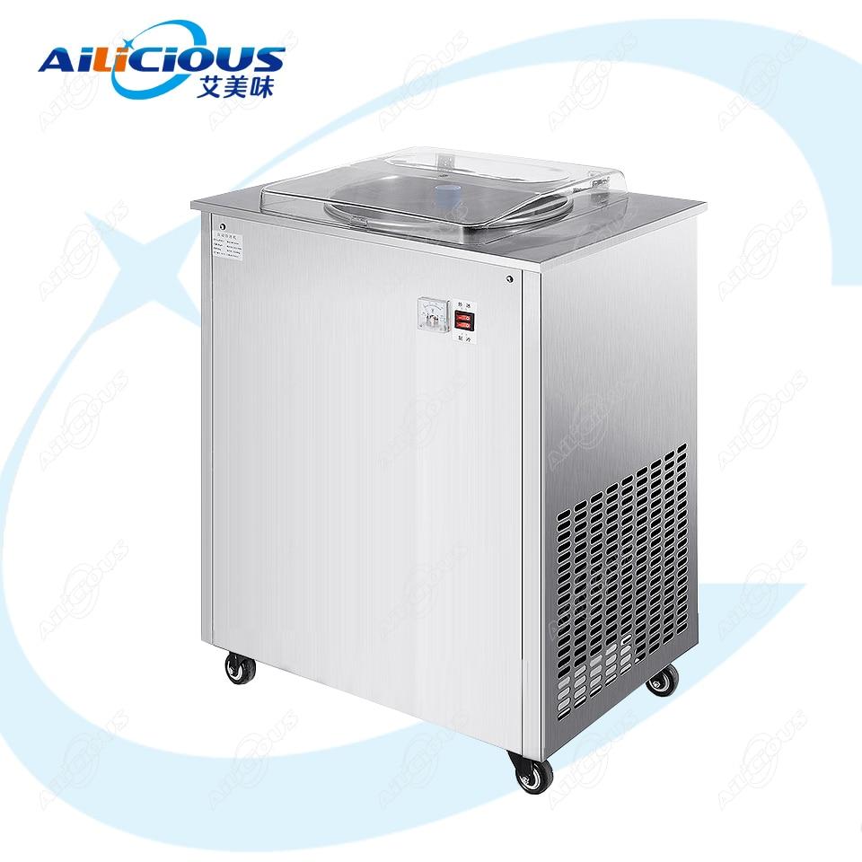 LJZ150 máquina de rollo de helado frito eléctrica de pie máquina de Yogurt frito Tailandia freír sartén de helado