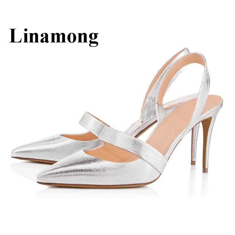 Zapatos de tacón alto delgados atractivos del talón del dedo del pie de Punta puntiaguda de la manera dos colores del verano partido sólido Europa y América zapatos de las mujeres bombas