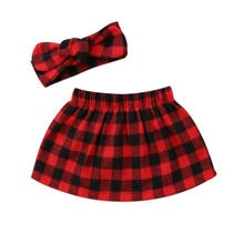 Newborn Kids Baby Girls Plaid Skirt Dress Outfits Set Clothes 0-24M Plaid  Fashion New Hot Casual Hot