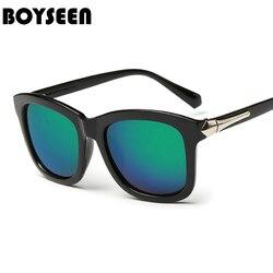 Boyseen marca retro óculos de sol feminino filme cor feminino óculos de sol para mulher uv400 oculos gafas de sol feminino 9709