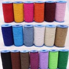 Bracelet de sangle élastique coloré   1 rouleau = 490 mètres largeur de 0.5mm pour bricolage, accessoires de vêtement de couture