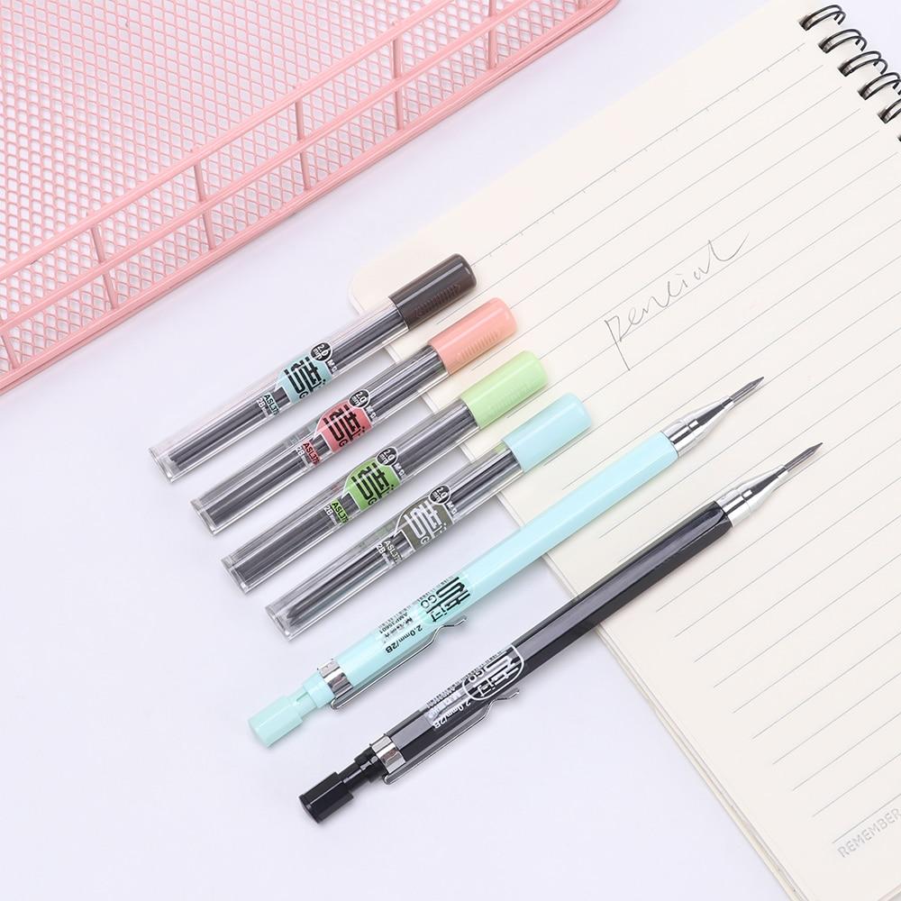 2.0 milímetros criativo Kawaii Lápis Doce Cor Lapiseira Automático Para A Escrita produtos de Papelaria Coreano Caçoa o Presente Escola
