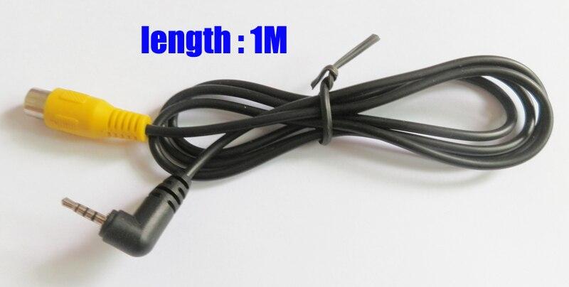 Cable AVIN para cámara de coche, adaptador de vídeo, cable para PND (conector RCA a conector jack de 2,5mm para cámara de vídeo de entrada)