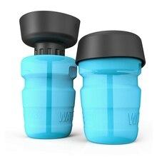 Portátil à prova de vazamento de água tigela para cachorro pet viagem água squeeze garrafa água potável copo macio garrafa bpa livre