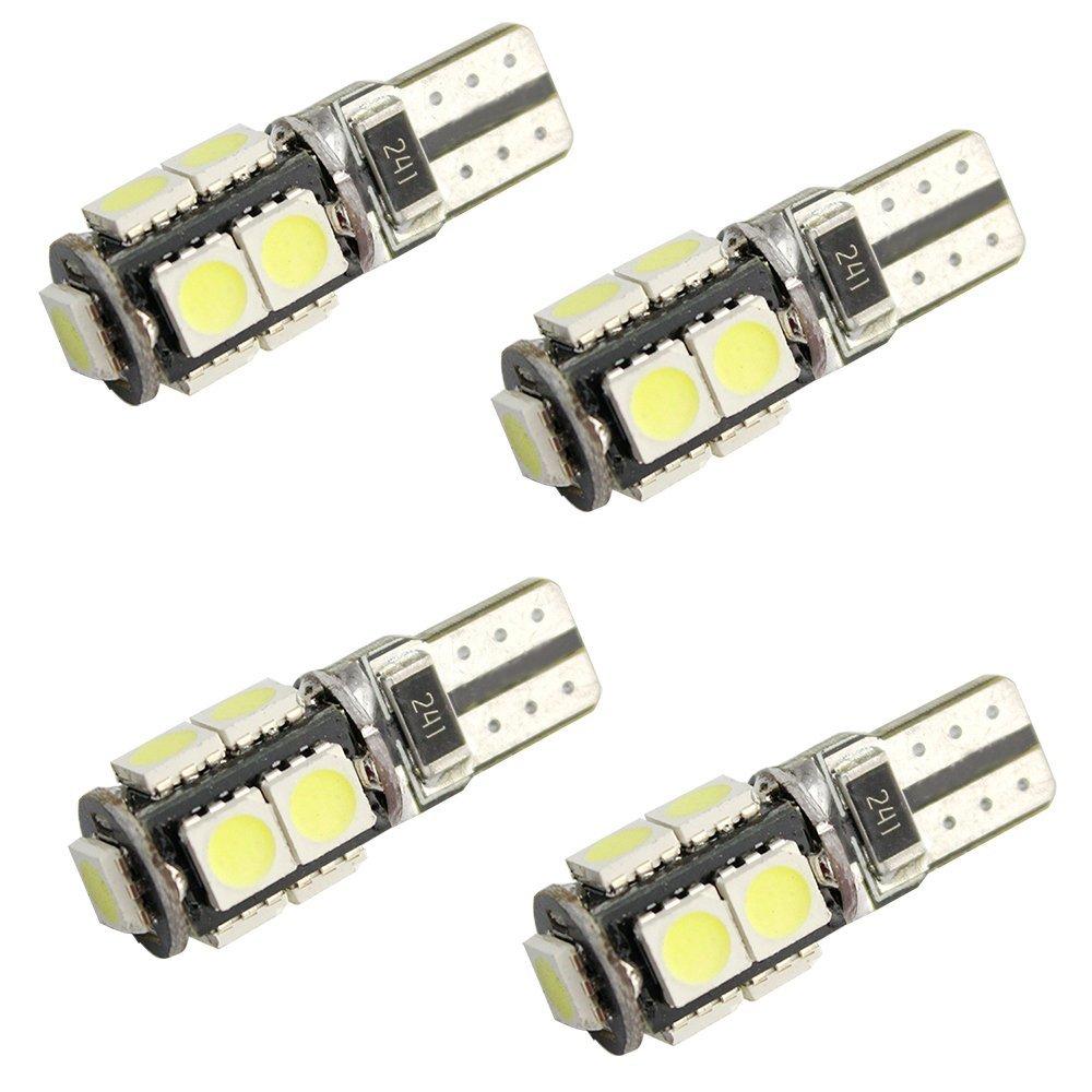 4pcs T10 Canbus No Error Light 9 led SMD 5050 LED Can bus W5W 194 Car Side Bulbs Wedge Lamp 12V DC White