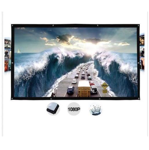 Película de cortina de pantalla de proyección para proyección de películas al aire libre con montaje en pared de 250 pulgadas