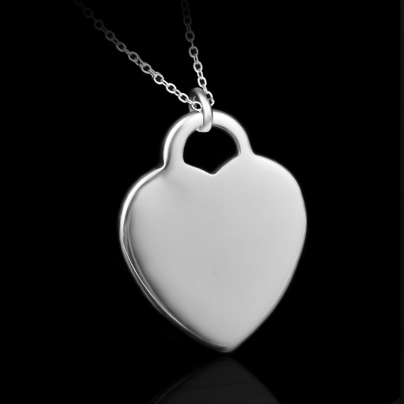 Heart Pendant Necklace For Women Necklaces & Pendants Silver color Jewelry Charms Jewellery Choker C