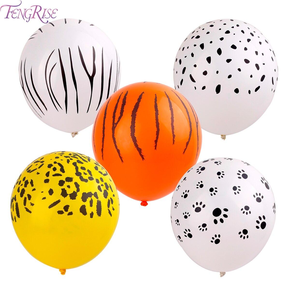 FENGRISE 10 piezas globos de látex animales niños Favor regalos Tigre cebra perro globo cumpleaños tema Fiesta Baby Shower inflable Ballon