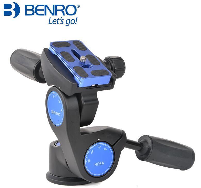 Benro HD1A HD2A HD3A 3-Way رئيس مع لوحة الإفراج السريع