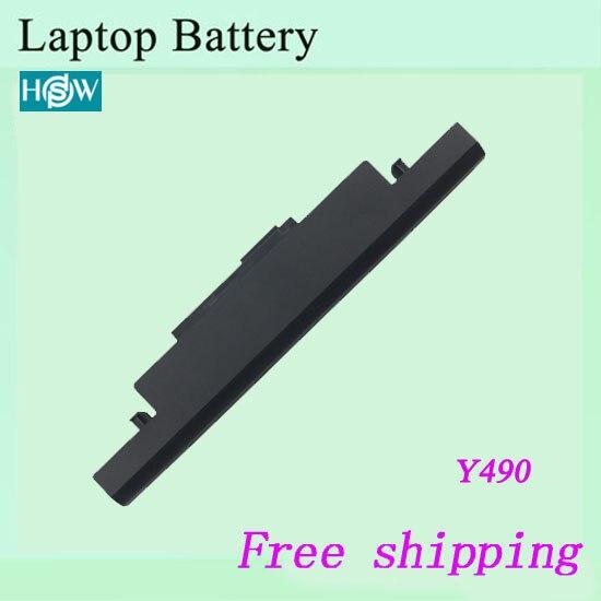 High quality For LENOVO  IdeaPad Y490N Y410  Y490P Y500 Y500N Y500P Y510 Y510N Y510P Y590 Y590N Y590P Laptop battery