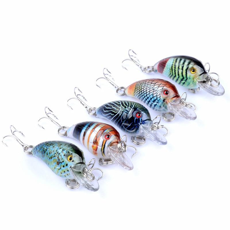 Gorgons Señuelos de Pesca 4g 45mm ultraligero Micro cebo de pesca Mini Crankbait señuelo duro wobblers Topwater de manivela