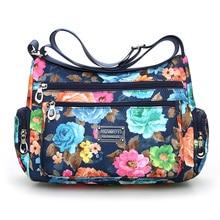 Sac à bandoulière à fleurs style Rural mode femmes sac style européen et américain sac Vintage léger plus de fermetures à glissière sac de messager