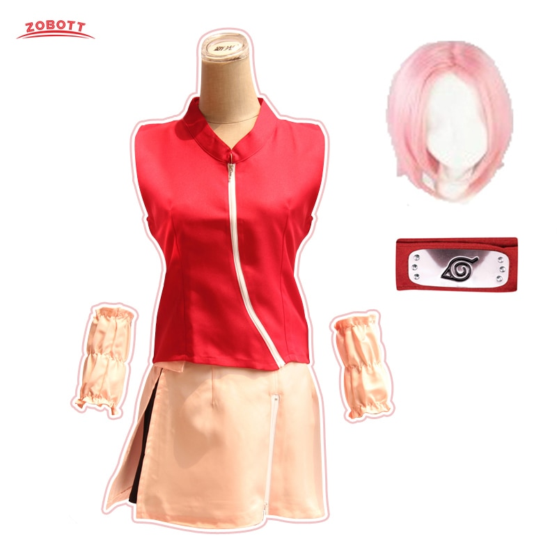 Naruto Cosplay Costume Haruno Sakura Anime Naruto Cosplay Costumes Halloween Women Cosplay Clothing