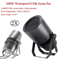 2Pcs/Lot Outdoor 250W COB Warm White / White Zoom Par Light DMX512 Control Waterproof IP65 2/3/4CH channel For DJ Party Light