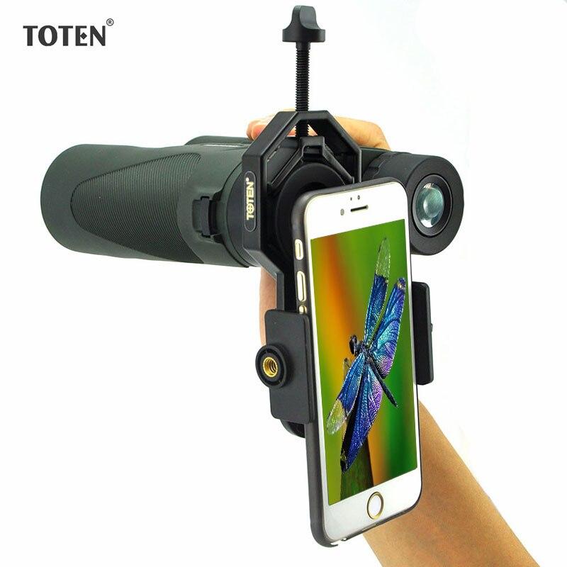 Montura de adaptador de cámara TOTEN Teléfono universal para Spotting Scope Binocular telescopios astronómicos accesorios multifuncionales