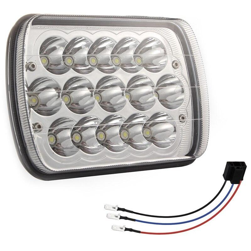 Led Headlights 5X7 300W Headlamp 2Pcs Hi/Low Sealed Beam Rectangle Headlight Replacement For Jeep Wrangler Yj Cherokee Xj Truc