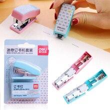 Stapler Book Sewer Binding 1 Pcs Set Stapler Paper Mini Stapless Cute Pink Box Stationery