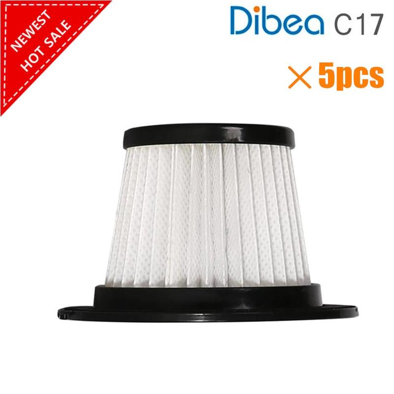 5 шт./лот для Dibea C17 Запчасти для пылесоса HEPA фильтр