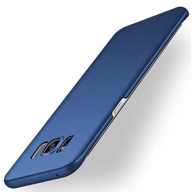Caja mate del teléfono para Samsung Galaxy S5 S6 S7 borde S8 más J3 J5 J7 A3 A5 A7 2015 2016 NOTA DE 2017 3 4 5 cubierta de plástico