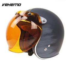 Мотоциклетный Ретро шлем с откидной крышкой и защитой от пузырей, зеркальные линзы, автомобильные аксессуары