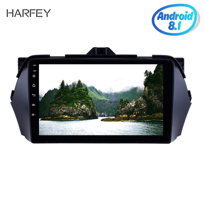 """Harfey pantalla táctil HD 9 """"Android 9,1 coche reproductor multimedia sistema de navegación GPS para Suzuki Alivio 2016 Bluetooth Radio remoto"""