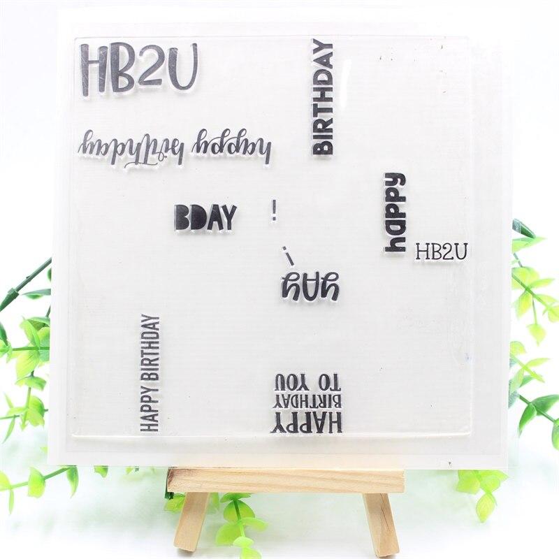 YPP ремесло с днем рождения TurnAbout прозрачные силиконовые штампы для DIY скрапбукинга/карты/Дети украшения Suppli 687