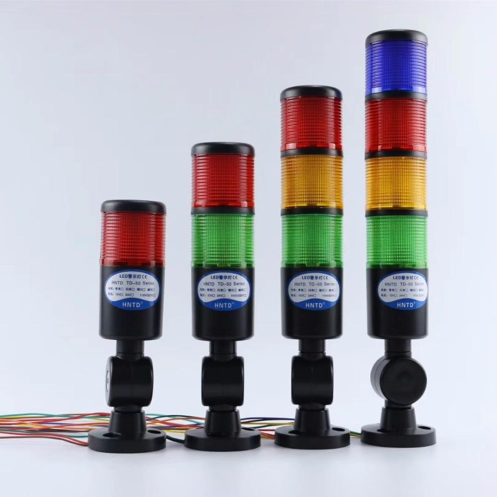 Escudo preto 24 v torre de sinal industrial segurança pilha alarme luz led multicamada dobrável buzzer aviso aviso lâmpada formachine