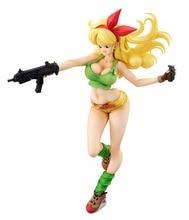 19cm Dragon Ball Z Lunchi yellow Sexy Anime figurka PVC nowe figurki kolekcjonerskie kolekcja zabawek na prezent na boże narodzenie