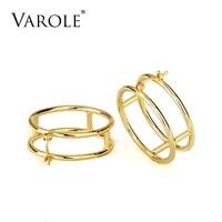 varole fashion gold plated earrings round trendy ear drop earrings for women jewelry brincos longos feminino