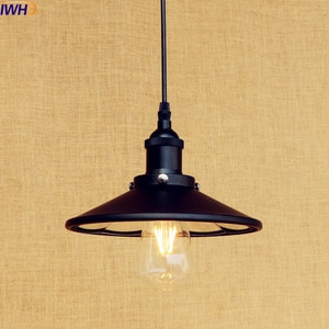 IWHD Black Retro Vintage Lamp LED Pendant Light Edison Bar Coffee Loft Industrial Pedant Lighting Fixtures Suspenison Luminaire