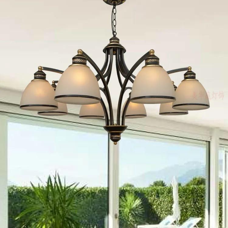 Çoklu avize yemek odası yatak odası lambası demir basit modern retro amerikan Pastoral aydınlatma ZX42