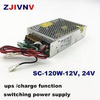 Импульсный источник питания ups Вт, 12 В, 24 В с функцией зарядки 120/UPS В переменного тока в 12 В, 24 В постоянного тока, зарядное устройство 110, 24 В по...