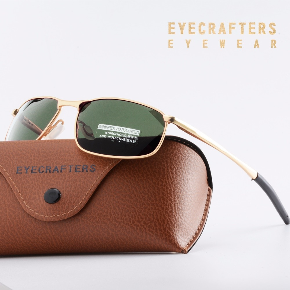 New Men's Polarized Sunglasses Metal Frame Night Vision Car Driving Sun Glasses 100% UV400 Polarised