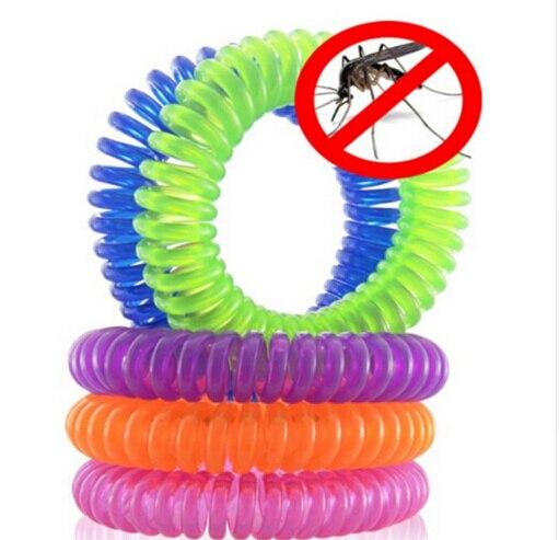 Banda elástica para la muñeca con espiral, pulsera con anillo para teléfono, pulsera antimosquito, repelente de muelle, deporte, viaje