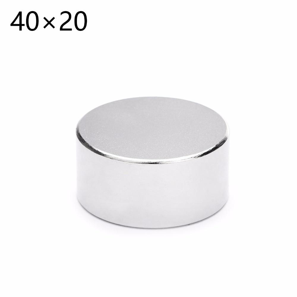 1 Uds N52 neodimio Dia 40mm x 20mm imanes fuertes disco NdFeB tierras raras para modelos artesanales nevera adhesivo 40*20mm 40mm * 20mm